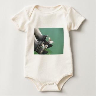 Two outboard boat motors baby bodysuit
