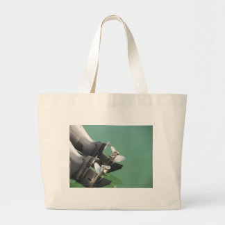 Two outboard boat motors jumbo tote bag