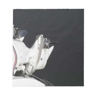 Two outboard boat motors notepad