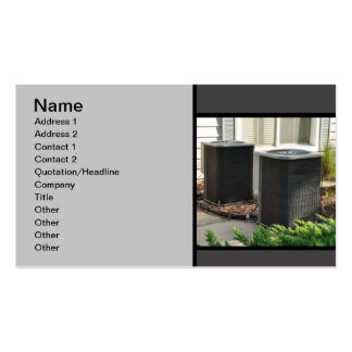 two outdoor central air conditioner units Double-Sided standard business cards (Pack of 100)