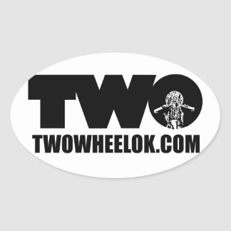 TWO Oval Decal Oval Sticker