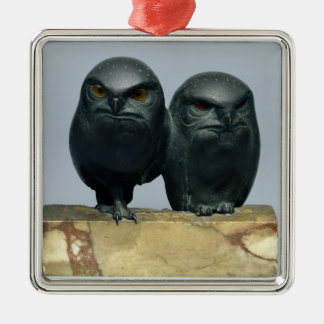 Two Owls, 1903-04 Metal Ornament