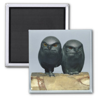 Two Owls, 1903-04 Refrigerator Magnet