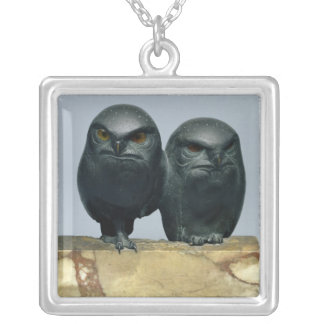 Two Owls, 1903-04 Silver Plated Necklace