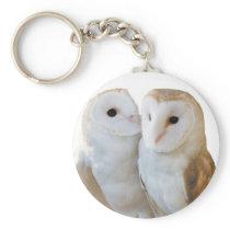 two owls friends keychain