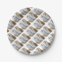 two owls friends paper plate