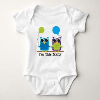 Two Owls I'm This Many Birthday Tshirts