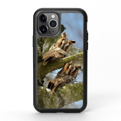 Two Owls in the Woods, birds, wildlife OtterBox iP OtterBox Symmetry iPhone 11 Pro Case