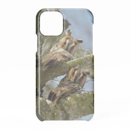 Two Owls in the Woods, birds, wildlife Uncommon iP iPhone 11 Pro Case