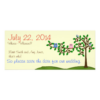 Two Owls Save the Date Invitations