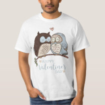 Two Owls Valentine's Day T-Shirt