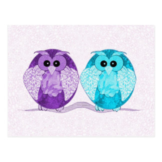 Two OwlsPostcard Postcard