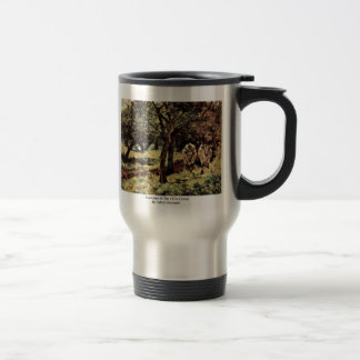 Two Oxen In The Olive Grove By Fattori Giovanni 15 Oz Stainless Steel Travel Mug