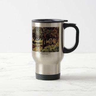 Two Oxen In The Olive Grove By Fattori Giovanni Coffee Mug