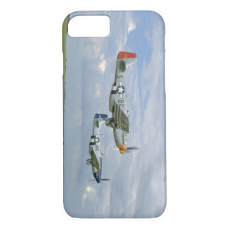 Two P51 Mustangs Flying By._WWII Planes iPhone 7 Case