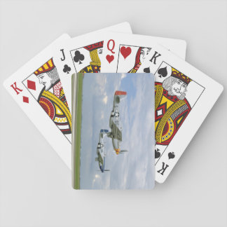 Two P51 Mustangs Flying By._WWII Planes Playing Cards