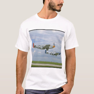Two P51 Mustangs Flying By._WWII Planes T-Shirt
