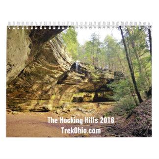 Two-Page, Medium Calendar - Hocking Hills 2016