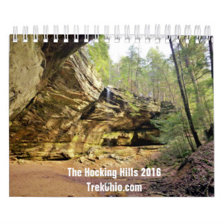 Two-Page, Small Calendar - Hocking Hills 2016