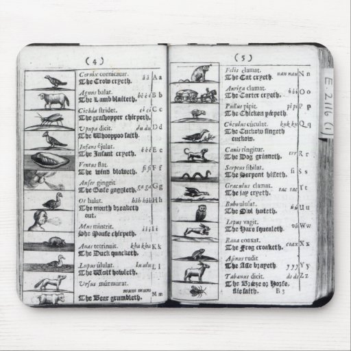 Two pages from 'Orbis Sensualium Pictus' Mouse Pads