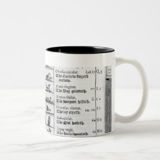 Two pages from 'Orbis Sensualium Pictus' Two-Tone Coffee Mug