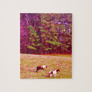 Two Painted Horses Jigsaw Puzzle