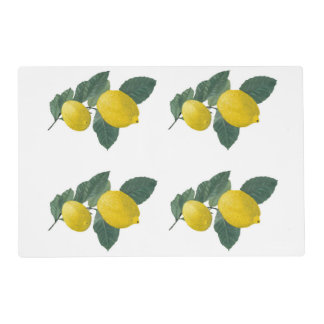 Two painted lemons. placemat