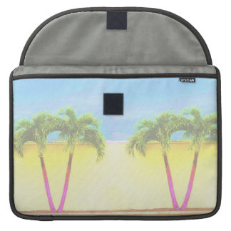 Two Palm Retro Trees Sky Faded MacBook Pro Sleeves