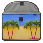 Two Palm Retro Trees Sky Yellow Sleeve For MacBook Pro