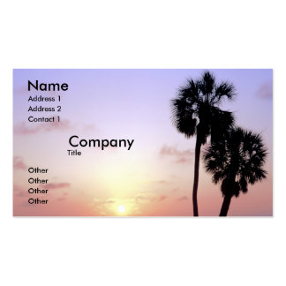 Two Palm Trees Business Card
