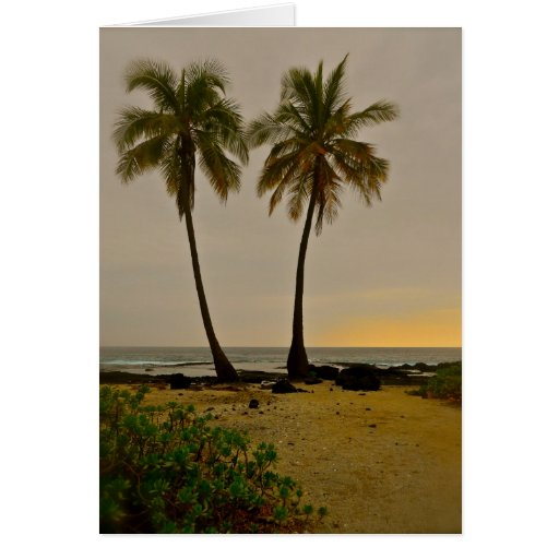 Two Palms Greeting Cards