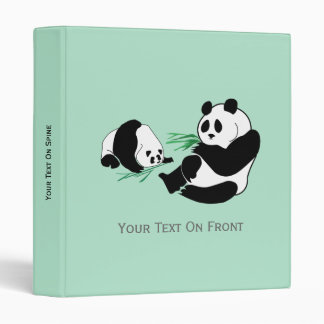 Two Pandas Eat Bamboo on Avery Binder 1 Inch