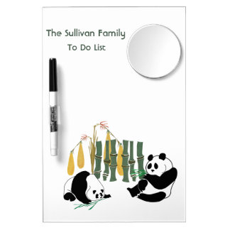 Two Pandas Eat Bamboo Whiteboard, Pen and Mirror Dry-Erase Whiteboard