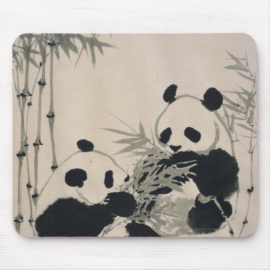 Two Pandas Mouse Pad