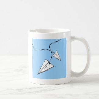 Two Paper Airplanes Coffee Mug