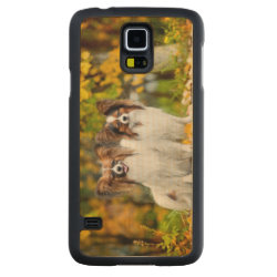 Carved ® Samsung Galaxy S5 Slim Wood Case with Papillon Phone Cases design
