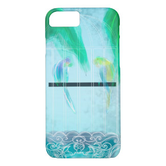 Two Parakeets iPhone 7 Case