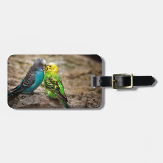 Two Parakeets Bag Tags