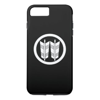 Two parallel arrows in circle iPhone 8 plus/7 plus case