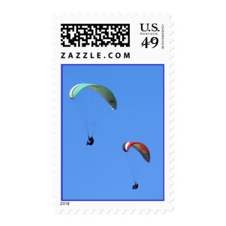 Two parasailers stamp