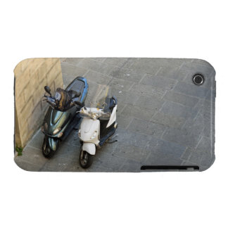 Two parked motor scooters by wall, Siena, Italy Case-Mate iPhone 3 Case