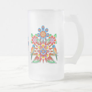 Two Parrots Frosted Mug