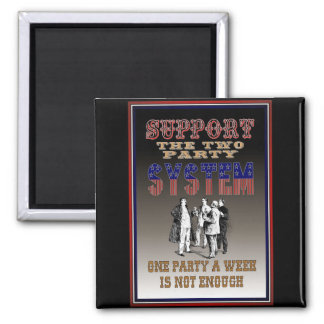 Two Party System 2 Inch Square Magnet