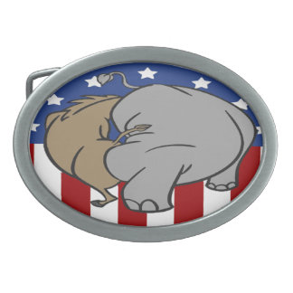 Two Party System Explained Simply Oval Belt Buckle