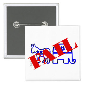 Two Party System Fail Pinback Button