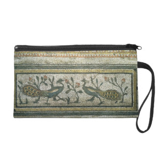Two peacocks, decorative border detail from a mosa wristlet