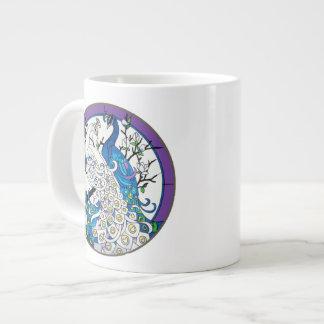 Two Peacocks Grand Venti Ceramic Mug 20 Oz Large Ceramic Coffee Mug