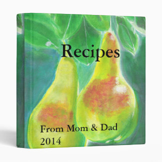 Two Pears Hanging from Tree Picture Recipe Binder