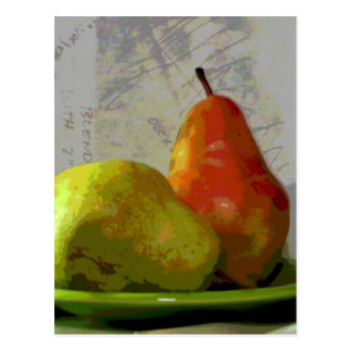 TWO PEARS POSTCARD