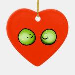 Two peas christmas ornaments